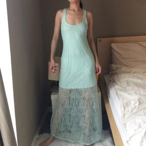 Victoria's Secret Mint Lace Racer Back Dress.-P5.